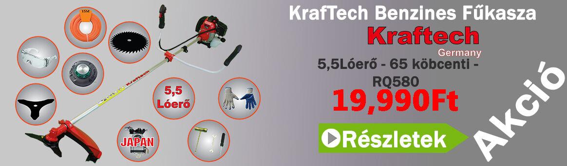 KrafTech KT-GT6500 5,2Lóerő 65ccm 6-Tarózékkal