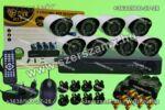 DVR H.264 8 kamerás Online éjjellátó térfigyelő kamera rendszer 320GB