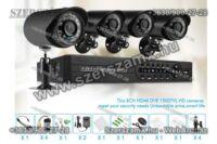DVR H.264 Online éjjellátó térfigyelő kamera rendszer 4-kamerás