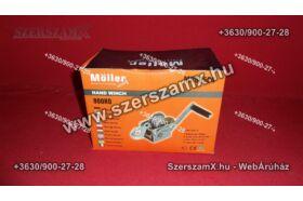 Möller MR60504 Kézi Drótköteles Csörlő 900kg