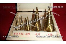 Möller MR60577 5db Lépcsős Fúró 4-39mm Piramida Fúrószár