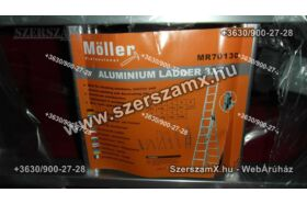 """Möller MR70130 Aluminium Létra 3x7"""" 4,63méter"""