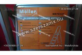 Möller MR70131 Alumínium Létra 4 fokos Lépcsős Szobai létra