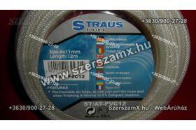 Straus ST/AT-PVC12 Szövetszálas Tömlő 12m Csatlakozókkal