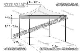 Összecsukható rendezvénysátor, 3 × 3 m, zöld SAproduct 1602176whi