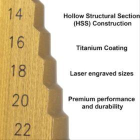 Haina HB-6568 HSS Lépcsős Fúró készlet 3-részes
