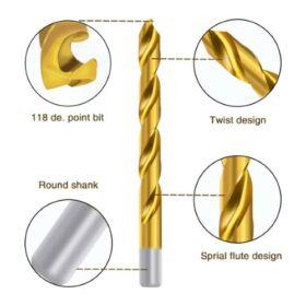 Haina HA 2028 HSS Titán Fúrószár készlet 99 részes Haina HA 2028 HSS Titán Fúrószár készlet 99 részes HA2028 Twist Drill Bits Set by Sellyoak