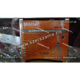 Möller MR70129 Alumínium Létra 3részes 3x6 Univerzális Kitolhatós