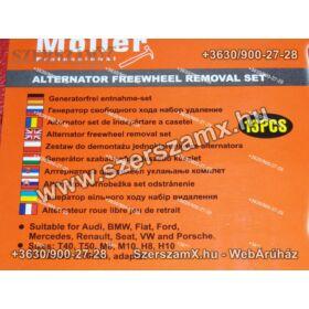 Haina MR70355 Generátor Szabadonfútó Szerelő Kulcs Készlet 13db
