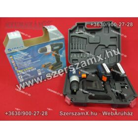Straus ST/CD18-408 Lithium-ION Dupla Akús Fúrógép 18V 2-sebesség