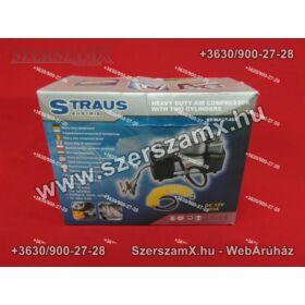 Straus ST/MACP-46B Kompresszor 12V 10BAR 2-hengeres