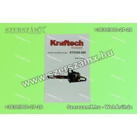 KrafTech Kraftech-CHS-498 Benzinmotoros Fűrész 4,9Lóerő