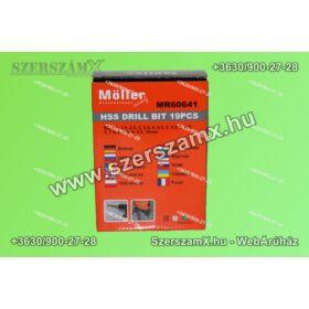 Möller MR60641 HSS Fúrószár készlet 19 részes