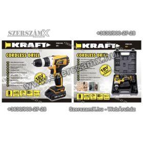 Kraft KF/CDD18-001 Lithium-ION Dupla Akús Fúrógép 18V 2-sebesség