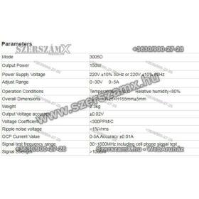 Yihua YH3005D Intelligens Programozható Labortápegység