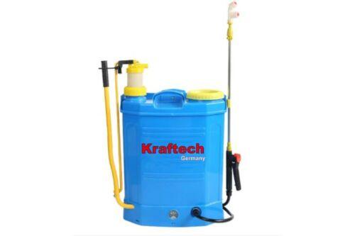 KrafTech KT/SPRA-16BTM Akkumulátoros és Kézi Háti Permetező 16L 2in1