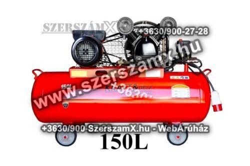 KraftDele KD406 2-Hengeres Kompresszor 150Liter 3800W