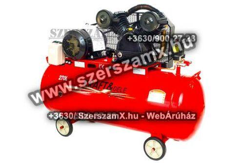 KraftDele KD409 2-Hengeres Kompresszor 270Liter 5500W
