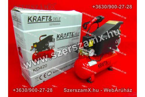 KraftDele KD420 Kompresszor 9Liter 750W