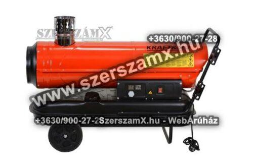 KraftDele KD711 Gázolajos Hölégfúvó 30kW Kéményes
