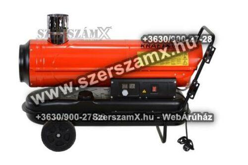 KraftDele KD712 Gázolajos Hölégfúvó 60kW Kéményes