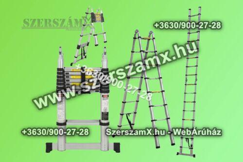 Haina M143-5MLT Kétágú Teleszkopós Létra 5m (2x2,5m)