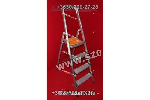Möller MR70131 Alumínium Létra 4 fokos Lépcsős Szobai létra - Szerszám Szerszam Szerszámok Szerszamok Barkacs Barkács Fűkasza Láncfűrész Bozótvágó Kertészet Gép Hegesztő Hegesztéstechnika