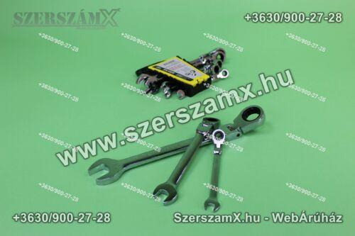 Silver SL SK-008-02 Racsnis Csillag Villás Csuklós Kulcs készlet 8-22mm 8részes