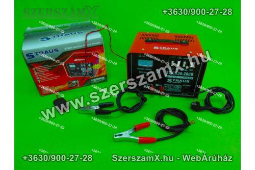 Straus ST/CA36-200B Töltő és Bikázó 200Amper 12V / 24V