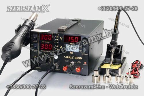 Yihua YH853D SMD Forrasztóállomás 5-funkciós 765W