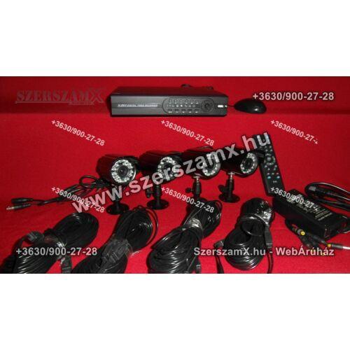 DVR H.264-8 kamerás éjjellátó térfigyelő kamera rendszer 320GB - Szerszám Szerszam Szerszámok Szerszamok Barkacs Barkács Fűkasza Láncfűrész Bozótvágó Kertészet Gép Hegesztő Hegesztéstechnika