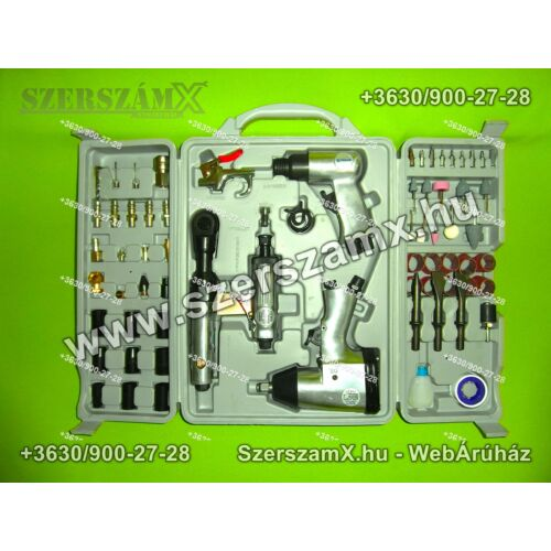 Straus ST/AT-PS005 Pneumatikus Légszerszám 66részes - Szerszám Szerszam Szerszámok Szerszamok Barkacs Barkács Fűkasza Láncfűrész Bozótvágó Kertészet Gép Hegesztő Hegesztéstechnika