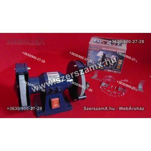 Straus ST/BG150-621 Kettős Köszörű 200W 150mm - Szerszám Szerszam Szerszámok Szerszamok Barkacs Barkács Fűkasza Láncfűrész Bozótvágó Kertészet Gép Hegesztő Hegesztéstechnika