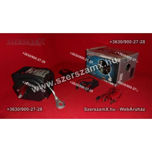 Straus ST/EW20001 12V Elektromos Csörlő 900kg - Szerszám Szerszam Szerszámok Szerszamok Barkacs Barkács Fűkasza Láncfűrész Bozótvágó Kertészet Gép Hegesztő Hegesztéstechnika