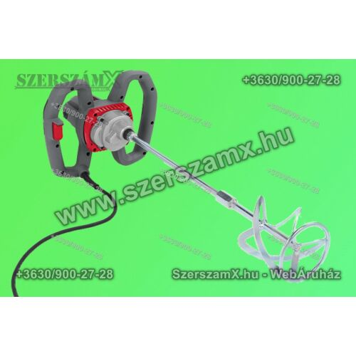 PowerPlus POWE80070 Kétkezes Festékkeverő 1200W - Szerszám Szerszam Szerszámok Szerszamok Barkacs Barkács Fűkasza Láncfűrész Bozótvágó Kertészet Gép Hegesztő Hegesztéstechnika
