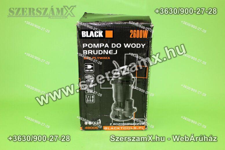 Black BL48005 Darálós Szennyvíz Szivattyú 2600W