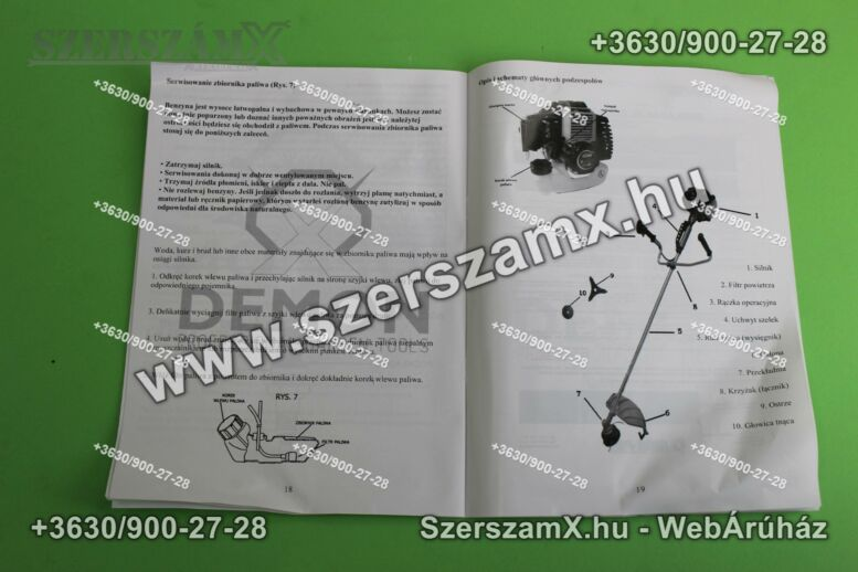 Demon D-RQ580  Fűkasza 5,2Lóerő 55ccm