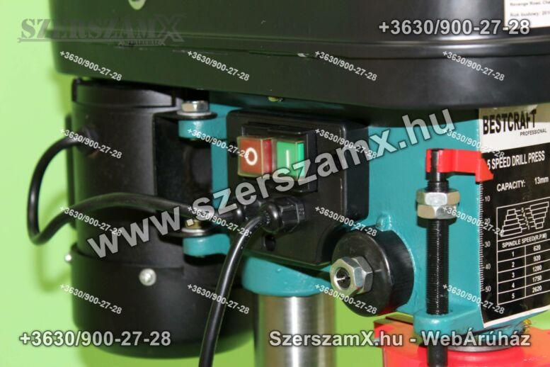Bestcraft HN1701.13 Oszlopos Fúrógép 1550W 13mm + Satu