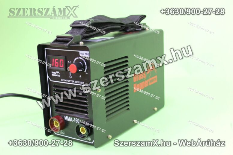 GrassHopper GH-MM160 Inverteres Hegesztő 160A Digitál