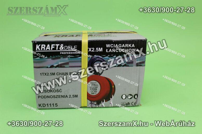 KraftDele KD1115 Láncos Csörlő 1Tonnás