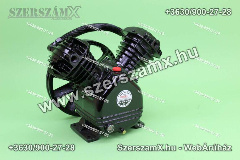 KraftDele KD1402 2-Hengeres Kompresszor 2x65mm