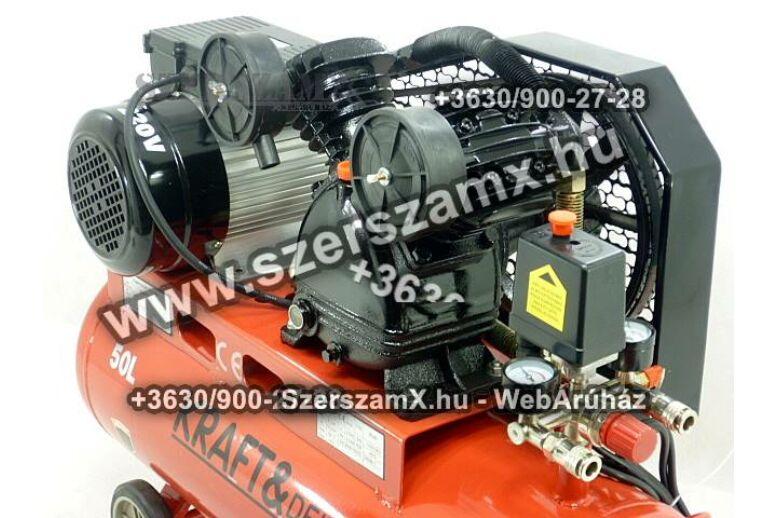 KraftDele KD403 2-Hengeres Kompresszor 50Liter 2800W