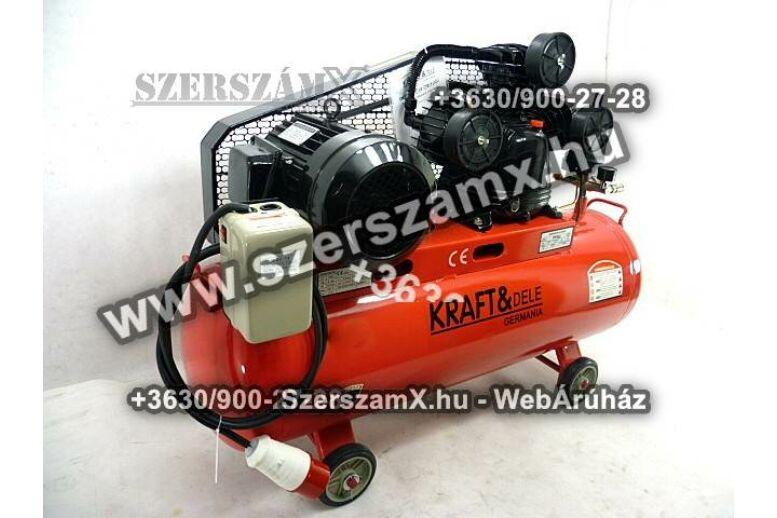 KraftDele KD408 3-Hengeres Kompresszor 200Liter 4800W