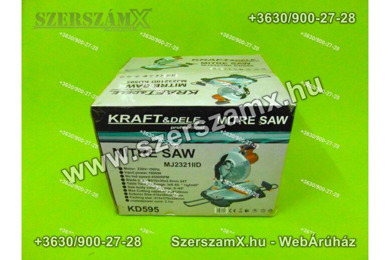 KraftDele KD595 Gérvágó Körfűrész 1900W