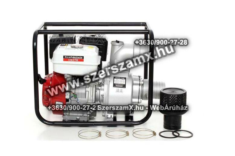 KraftDele KD771 Benzines 6,5Lóerős Szivattyú 1110L/perc