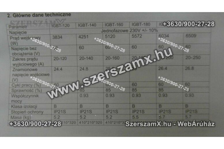 KraftDele KD844 Inverteres Hegesztő 250A Digitál