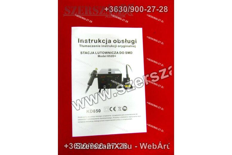 KraftDele KD850  Forrasztóállómás 2Funkciós