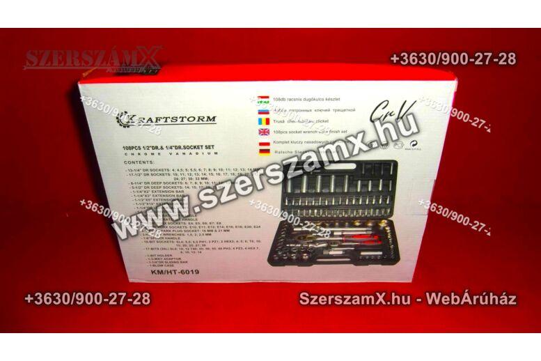 Kraftstorm KM-HT-6019 Krova Dúgokulcs készlet 108részes