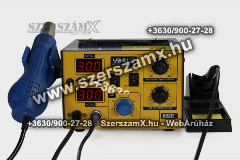 Yihua Digitális Forrasztóállómás 2 funkciós 700W YH862d
