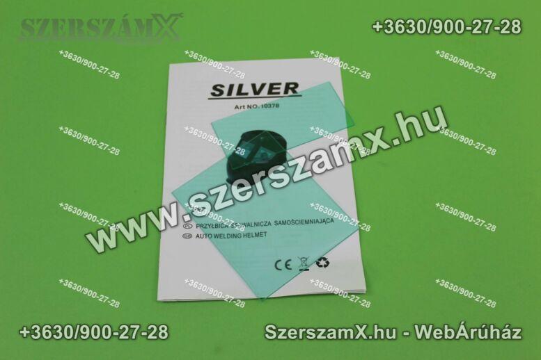 Silver Silver pajzs Automata Hegesztőpajzs Fényresötétedő